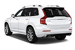 Car pictures of rear three quarter view of a 2019 Volvo XC90 T5 Momentum AWD 5 Door SUV angular rear