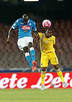 Kalidou Koulibaly   Jose Callejon N  durante l'incontro di calcio di Serie A   Napoli -Sampdoria allo  Stadio San Paolo  di Napoli , 30 Agosto 2015