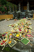 Temple offerings, Gunung Kawi, Bali