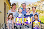 Jasmine Durkin, Hannah O'Donoghue, Ruth Finnan and Lichiliqin Hourigan, Black Valley National School, Beaufort, who won the Beaufort Tidy Towns schools colouring competition pictured as they received their Easter eggs from Rachel Cameron and Padraig O'Sullivan, Beaufort tidy Towns and Julie O'Sullivan, principal.......