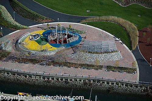 aerial photograph playground Port of Oakland, California
