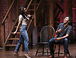 "Lauren Boyd and Anthony Lee Medina from the 'Hamilton' cast during the student Q & A before  The Rockefeller Foundation and The Gilder Lehrman Institute of American History sponsored High School student #EduHam matinee performance of ""Hamilton"" at the Richard Rodgers Theatre on 4/26/2017 in New York City."