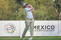 Paul Dunne (IRE) watches his tee shot on 18 during round 2 of the World Golf Championships, Mexico, Club De Golf Chapultepec, Mexico City, Mexico. 3/2/2018.<br /> Picture: Golffile | Ken Murray<br /> <br /> <br /> All photo usage must carry mandatory copyright credit (&copy; Golffile | Ken Murray)