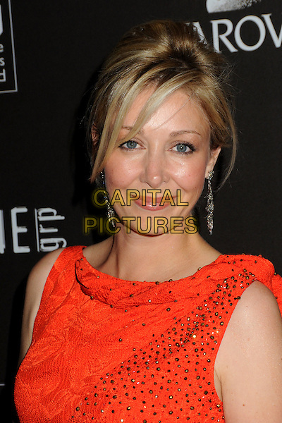 NADJA SWAROVSKI.Attending the 12th Annual Costume Designers Guild Awards held at the Beverly Hilton Hotel.  .Beverly Hills, California, USA,  .25th February 2010 .arrivals portrait headshot red dangly earrings  crystals .CAP/ADM/BP.©Byron Purvis/AdMedia/Capital Pictures.