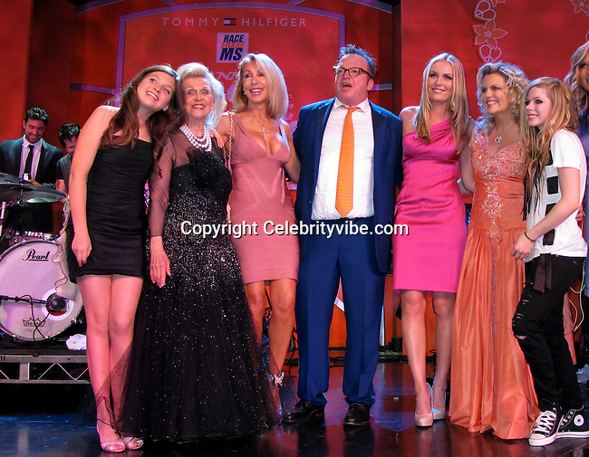 Guest, Barbara Davis, Linda Thompson, Tom Arnold, Lindsey Vonn, Nancy Davis and Avril Lavigne..Race to Erase MS Hosted by Nancy Davis – Inside..Hyatt Regency Century Plaza Hotel..Century City, CA, USA..Friday, May 07, 2010..Photo By CelebrityVibe.com.To license this image please call (212) 410 5354; or Email: CelebrityVibe@gmail.com ; .website: www.CelebrityVibe.com.