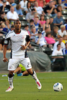 Darrius Barnes...Kansas City Wizards defeated New England Revolution 4-1 at Community America Ballpark, Kansas City, Kansas.