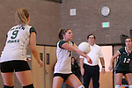 Photograph from the 2009 Mt. Rainier Lutheran High School girl's volleyball season.