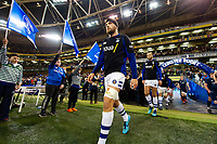Charlie Ewels of Bath Rugby leads his team onto the field. Heineken Champions Cup match, between Leinster Rugby and Bath Rugby on December 15, 2018 at the Aviva Stadium in Dublin, Republic of Ireland. Photo by: Patrick Khachfe / Onside Images