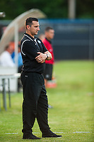 FC Kansas City head coach Vlatko Andonovski. Sky Blue FC and FC Kansas City played to a 2-2 tie during a National Women's Soccer League (NWSL) match at Yurcak Field in Piscataway, NJ, on June 26, 2013.