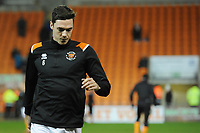 Blackpool's Ben Heneghan during the pre-match warm-up <br /> <br /> Photographer Kevin Barnes/CameraSport<br /> <br /> Emirates FA Cup Third Round Replay - Blackpool v Reading - Tuesday 14th January 2020 - Bloomfield Road - Blackpool<br />  <br /> World Copyright © 2020 CameraSport. All rights reserved. 43 Linden Ave. Countesthorpe. Leicester. England. LE8 5PG - Tel: +44 (0) 116 277 4147 - admin@camerasport.com - www.camerasport.com
