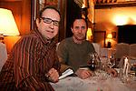 """20070309 - France - Paris<br /> CHRISTOPHE TUPINIER ET THIERRY GAUDILLERE, CREATEURS DU MAGAZINE """"BOURGOGNES"""" SUR LES VINS DE BOURGOGNE.<br /> Ref: CHRISTOPHE_TUPINIER_004 - © Philippe Noisette"""