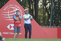 Xander Schauffele (USA) on the 17th tee during the final round of the WGC HSBC Champions, Sheshan Golf Club, Shanghai, China. 03/11/2019.<br /> Picture Fran Caffrey / Golffile.ie<br /> <br /> All photo usage must carry mandatory copyright credit (© Golffile | Fran Caffrey)