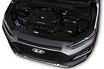 Car stock 2018 Hyundai Kona SEL AUTO 5 Door SUV engine high angle detail view