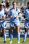 19 October 2014: North Carolina's Maggie Bill. The Duke University Blue Devils hosted the University of North Carolina Tar Heels at Koskinen Stadium in Durham, North Carolina in a 2014 NCAA Division I Women's Soccer match. North Carolina won the game 3-0.