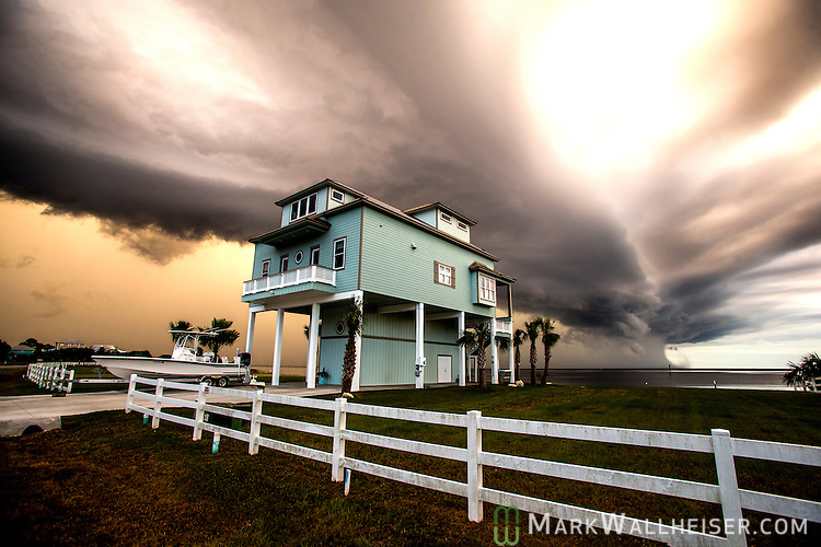 A storm front moves over Shell Point Beach along the Forgotten Coast of the Florida panhandle.