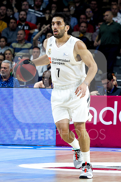 Real Madrid's Facundo Camapzzo during Liga Endesa match between Real Madrid and FC Barcelona Lassa at Wizink Center in Madrid, Spain. March 24, 2019.  (ALTERPHOTOS/Alconada)