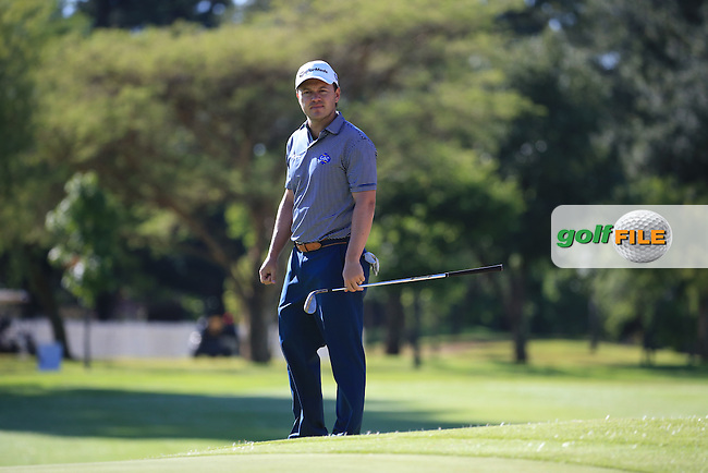 /rst/ plays up to the 5th green during the recommencement of Round Three of the 2016 BMW SA Open hosted by City of Ekurhuleni, played at the Glendower Golf Club, Gauteng, Johannesburg, South Africa.  10/01/2016. Picture: Golffile | David Lloyd<br /> <br /> All photos usage must carry mandatory copyright credit (&copy; Golffile | David Lloyd)