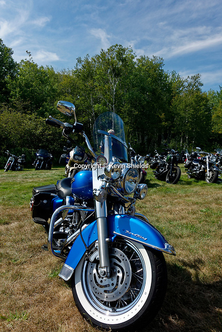 Motorcycle at the annual meet, Owls Head Transportation Museum, Maine