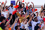Chinese soccer fans cheer and wave banners and flags to show supports for their team during the AFC Asian Cup UAE 2019 Group C match between China (CHN) and Kyrgyz Republic (KGZ) at Khalifa Bin Zayed Stadium on 07 January 2019 in Al Ain, United Arab Emirates. Photo by Marcio Rodrigo Machado / Power Sport Images
