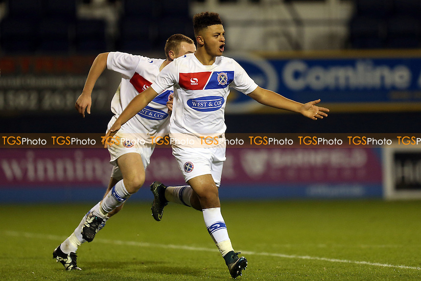 Florence celebrates scoring the third goal  during Luton Town Youth vs Dagenham & Redbridge Youth, FA Youth Cup Football at Kenilworth Road on 17th November 2016