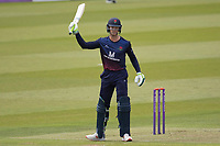 Keaton Jennings of Lancashire CCC acknowledges his half century during Middlesex vs Lancashire, Royal London One-Day Cup Cricket at Lord's Cricket Ground on 10th May 2019