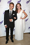 Nathan Johnson and Laura Osnes attending the The 2013 American Theatre Wing's Annual Gala honoring Harold Prince at the Plaza Hotel in New York City on September 16, 2013