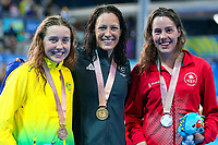 Commonwealth Games - Swimming - Optus Aquatics Centre, Gold Coast, Australia - Sophie Pascoe of New Zealand wins Gold in the Women's SM10 200m Individual Medley final, Silver - Canada's Aurelie Rivard, Bronze - Australia's Katherine Downie. 7 April 2018. Picture by Alex Whitehead / www.photosport.nz