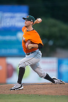Augusta GreenJackets relief pitcher Ryan Koziol (47) in action against the Kannapolis Intimidators at Intimidators Stadium on May 30, 2016 in Kannapolis, North Carolina.  The GreenJackets defeated the Intimidators 5-3.  (Brian Westerholt/Four Seam Images)