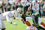 Baylor Bears quarterback Chris Johnson (13) in action  during the game between the Texas Longhorns and the Baylor Bears at the McLane Stadium in Waco, Texas.