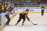 15.04.2018, EnergieVerbund Arena, Dresden, GER, Euro Hockey Challenge, Deutschland vs. Slowakei, im Bild<br /> <br /> <br /> Fabio Wagner (#38, Deutschland), <br /> <br /> Foto &copy; nordphoto / Dostmann