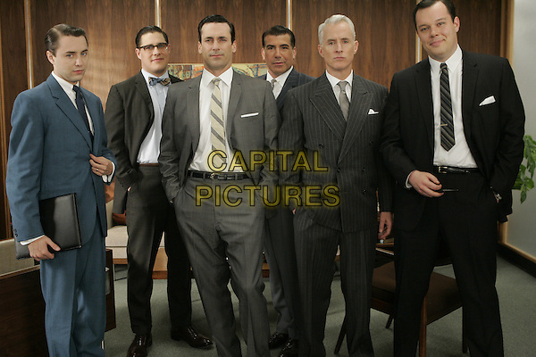 RICH SOMMER, VINCENT KARTHEISER, JON HAMM, AARON STATON, JOHN SLATTERY, MICHAEL GLADIS<br /> in Mad Men (Season 1)<br /> *Filmstill - Editorial Use Only*<br /> CAP/FB<br /> Image supplied by Capital Pictures