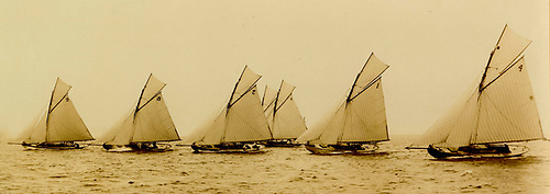 The new Belfast Lough One Design Class racing at the Royal Ulster YC Regatta of 1898