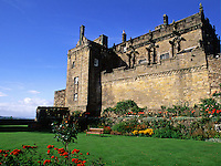 The exterior of the Scottish Stirling Castle and grounds. Scotland.