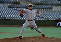 May 5, 2004:  Relief pitcher Jason Jimenez of the Scranton-Wilkes Barre Red Barons, Class-AAA International League affiliate of the Philadelphia Phillies, during a game at P&C Stadium in Syracuse, NY.  Photo by:  Mike Janes/Four Seam Images