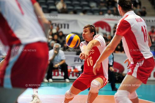 Ignaczak Krzysztof (POL),..DECEMBER 4,2011 - Volleyball : FIVB Men's Volleyball World Cup 2011,4th Round Tokyo(A) during match between Poland 2-3 Russia at 1st Yoyogi Gymnasium, Tokyo, Japan. (Photo by Jun Tsukida/AFLO SPORT) [0003]