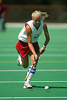 30 August 2005: Lyndsay Erickson during Stanford's 5-1 loss to Delaware at the Varsity Turf Field in Stanford, CA.