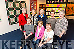 Quilt Exhibition in the Ashe Memorial Hall  Front l-r  Anna Hickson, Tralee, Nuala O'Connor, Tralee and Sharon Hodgkiss, Castlemaine. Back l-r  Breda Brown, Tralee, Mary McCord, Tralee, Sheila Allen, Tralee, Philomena Curran, Annascaul and Mary Allen, Tralee. Exhibition runs until the end of September