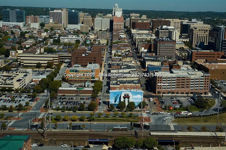 AErial view of Wilmington Delaware