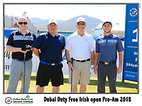Austin Connelly (CAN) team on the 10th tee during Wednesday's Pro-Am of the 2018 Dubai Duty Free Irish Open, held at Ballyliffin Golf Club, Ireland. 4th July 2018.<br /> Picture: Eoin Clarke | Golffile<br /> <br /> <br /> All photos usage must carry mandatory copyright credit (&copy; Golffile | Eoin Clarke)