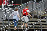 Arsenal fans arrive during the Premier League match between Arsenal and Aston Villa at the Emirates Stadium, London, England on 22 September 2019. Photo by Carlton Myrie / PRiME Media Images.