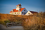 The old Coast Guard Station at Coast Guard Beach, Cape Cod National Seashore, Eastham, MA, USA