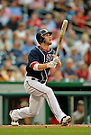 16 May 2012: Washington Nationals outfielder Bryce Harper smacks a triple in the first inning against the Pittsburgh Pirates at Nationals Park in Washington, DC. The Nationals defeated the Pirates 7-4 in the first game of their 2-game series. Mandatory Credit: Ed Wolfstein Photo