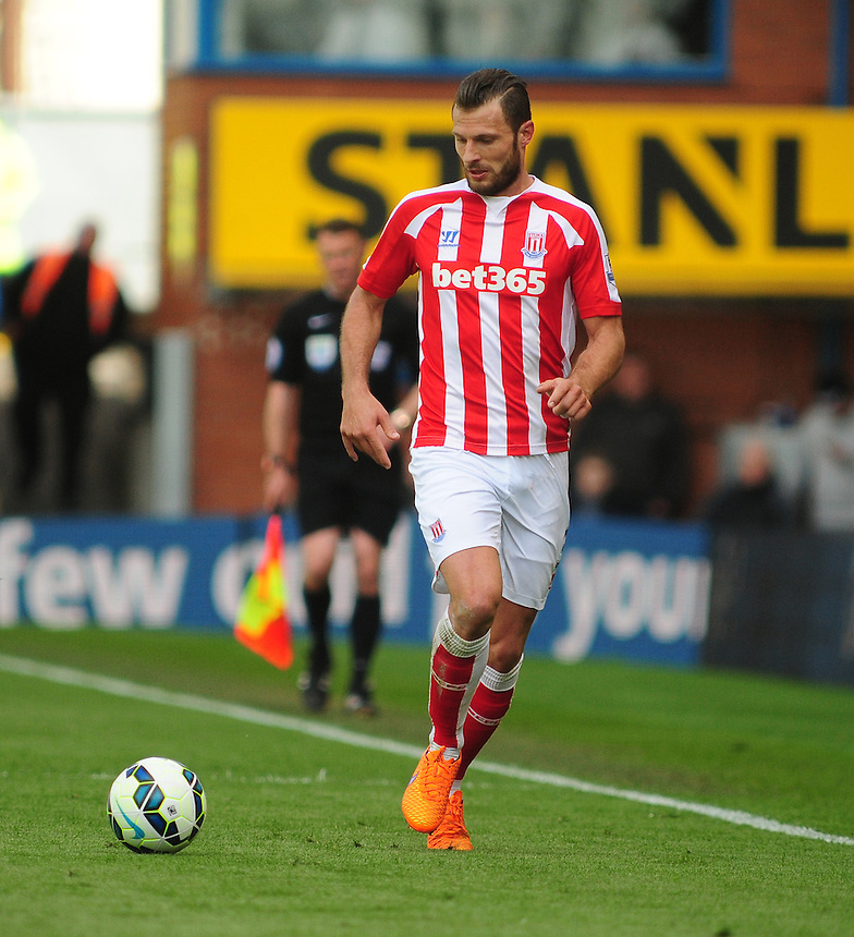 Stoke City's Erik Pieters<br /> <br /> Photographer Andrew Vaughan/CameraSport<br /> <br /> Football - Barclays Premiership - Burnley v Stoke City - Saturday 16th May 2015 - Turf Moor - Burnley<br /> <br /> &copy; CameraSport - 43 Linden Ave. Countesthorpe. Leicester. England. LE8 5PG - Tel: +44 (0) 116 277 4147 - admin@camerasport.com - www.camerasport.com