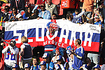 24 JUN 2010:  Slovakia fans in the stands with banner.  The Slovakia National Team led the Italy National Team 1-0 at half time at Ellis Park Stadium in Johannesburg, South Africa in a 2010 FIFA World Cup Group F match.