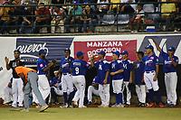 MONTERIA - COLOMBIA, 15-01-2020: Vaqueros de Montería y Gigantes de Barranquilla en partido 4 de la serie final de la Liga Profesional de Béisbol Colombiano temporada 2019-2020 jugado en el estadio estadio Dieciocho de Junio de la ciudad de Montería. / Vaqueros de Monteria and Gigantes de Barranquilla in match 4 final serie as part Colombian Baseball Professional League season 2019-2020 played at Baseball Stadium on June 18 in Monteria city. Photo: VizzorImage / Andres Felipe Lopez / Cont