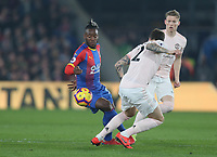Crystal Palace's Michy Batshuayi and Manchester United's Victor Lindelof<br /> <br /> Photographer Rob Newell/CameraSport<br /> <br /> The Premier League - Wednesday 27th February 2019  - Crystal Palace v Manchester United - Selhurst Park - London<br /> <br /> World Copyright © 2019 CameraSport. All rights reserved. 43 Linden Ave. Countesthorpe. Leicester. England. LE8 5PG - Tel: +44 (0) 116 277 4147 - admin@camerasport.com - www.camerasport.com