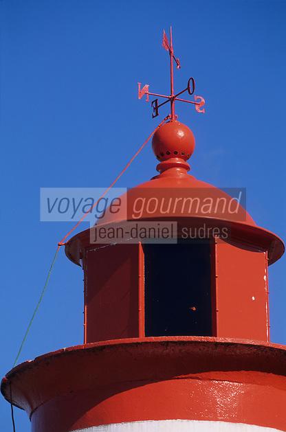 Europe/France/Bretagne/29/Finistère/l'Aber-Wrac'h: détail du sommet du phare de la Palue