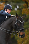 Stapleford Abbotts. United Kingdom. 08 November 2019. Class 7. British Dressage. Brook Farm training centre. Stapleford Abbotts. Essex. United Kingdom. Credit Garry Bowden/Sport in Pictures.~ 08/11/2019.  MANDATORY Credit Garry Bowden/SIP photo agency - NO UNAUTHORISED USE - 07837 394578
