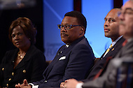 Washington, DC - September 17, 2015: Greg Mathis, TV show arbiter and former Michigan District Court judge, participates in the 'National Town Hall: Black Lives Matter' panel discussion at the Congressional Black Caucus Foundation's 2015 Annual Legislative Conference at the Washington Convention Center in the District of Columbia, September 17, 2015  (Photo by Don Baxter/Media Images International)