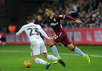 Aston Villa's Anwar El Ghazi takes on Swansea City's Connor Roberts<br /> <br /> Photographer Ian Cook/CameraSport<br /> <br /> The EFL Sky Bet Championship - Swansea City v Aston Villa - Wednesday 26th December 2018 - Liberty Stadium - Swansea<br /> <br /> World Copyright © 2018 CameraSport. All rights reserved. 43 Linden Ave. Countesthorpe. Leicester. England. LE8 5PG - Tel: +44 (0) 116 277 4147 - admin@camerasport.com - www.camerasport.com